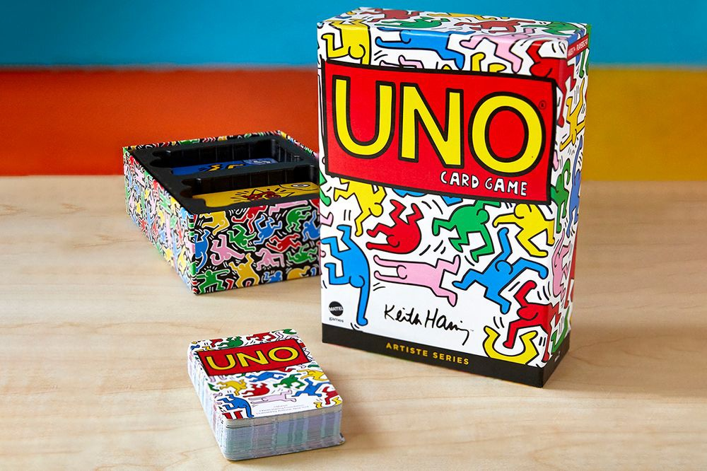UNO Artiste Series Keith Haring carte da gioco da tavolo