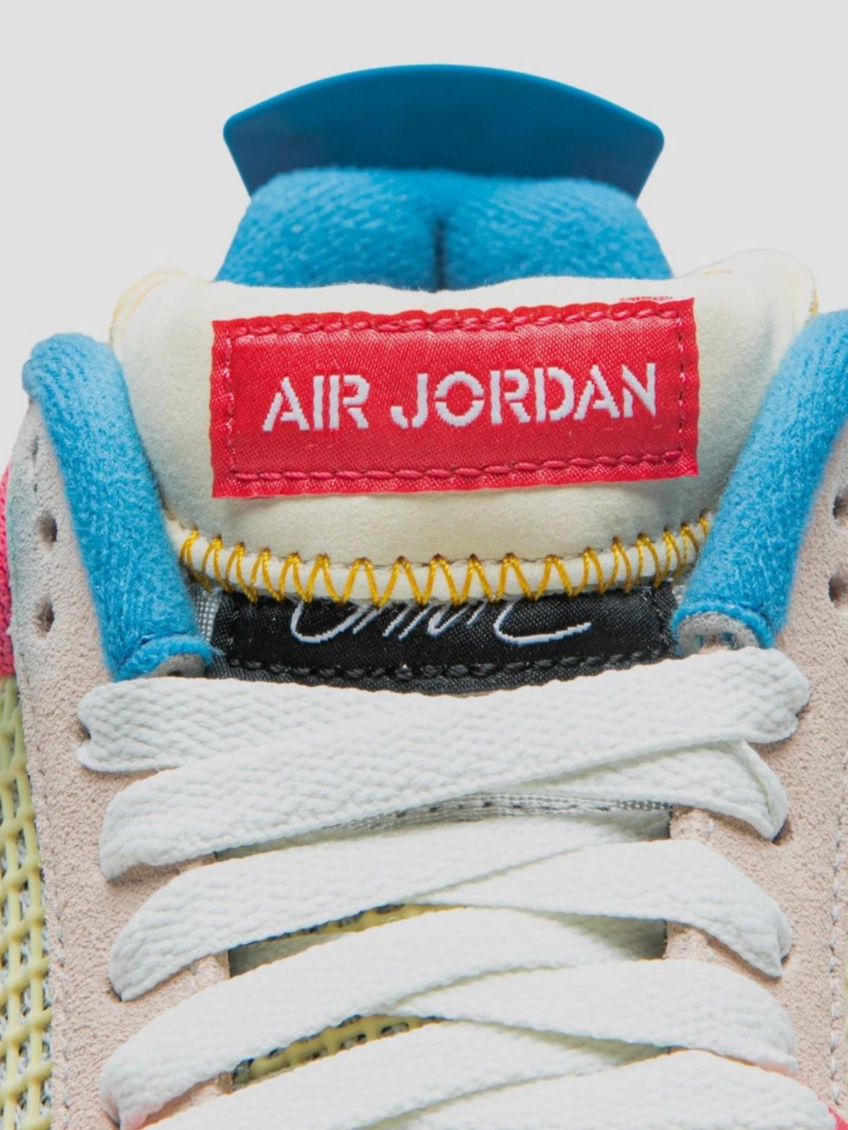 Union LA x Air Jordan 4 Guava Ice tongue