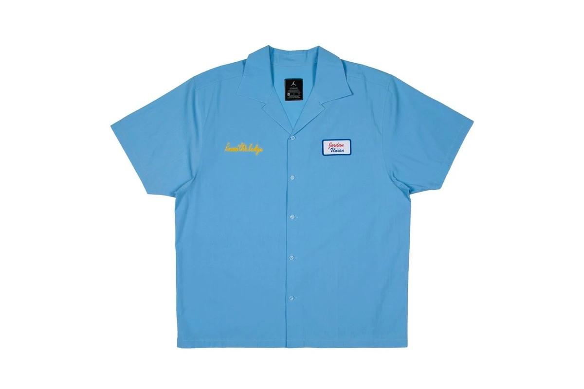 Union LA x Jordan Brand shirt azzurra