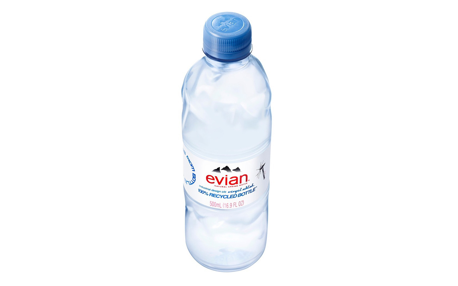 Virgil Abloh Evian water bottle 2021