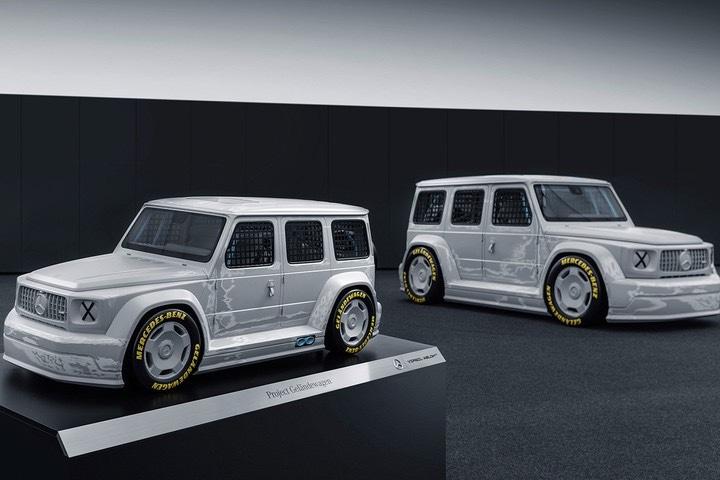 Virgil Abloh x Mercedes Classe G replica modellino