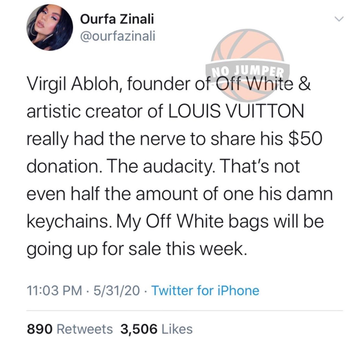 Virgil Abloh Tweet