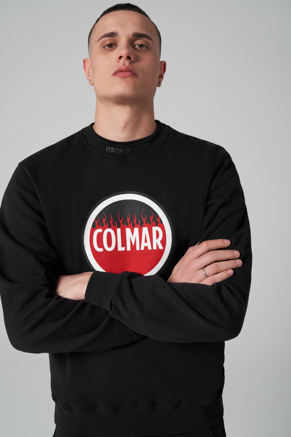 Vision Of Super x Colmar crewneck logo