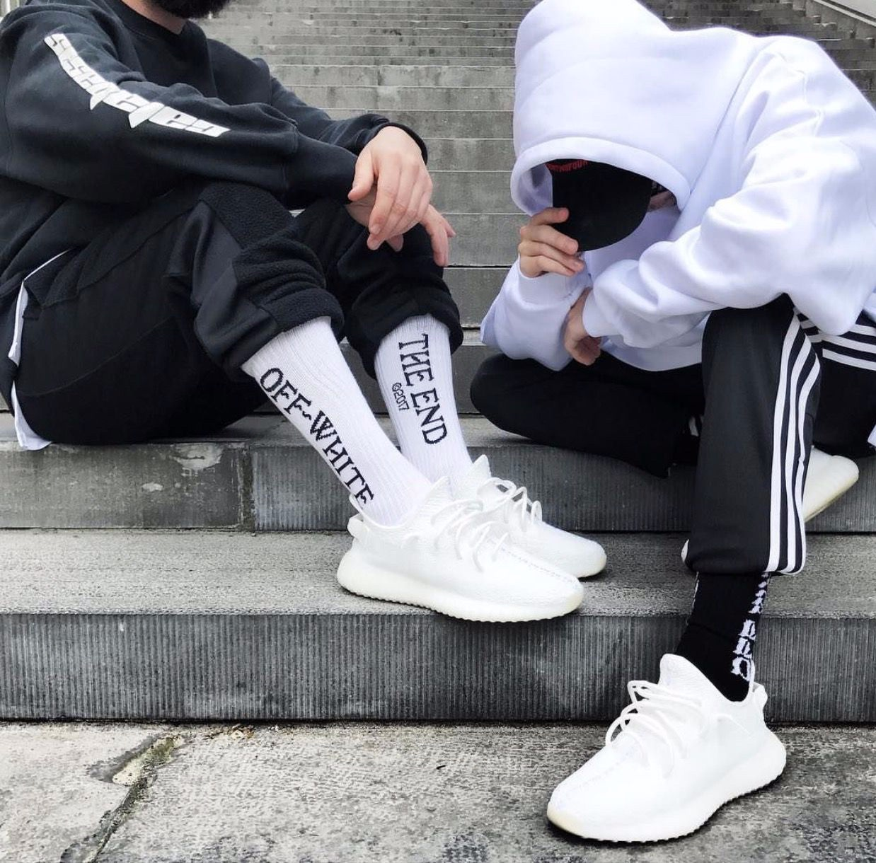 YEEZY calzino off-white