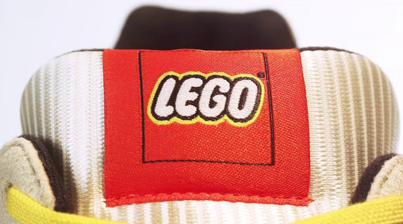 adidas x LEGO ZX 8000 branding tongue