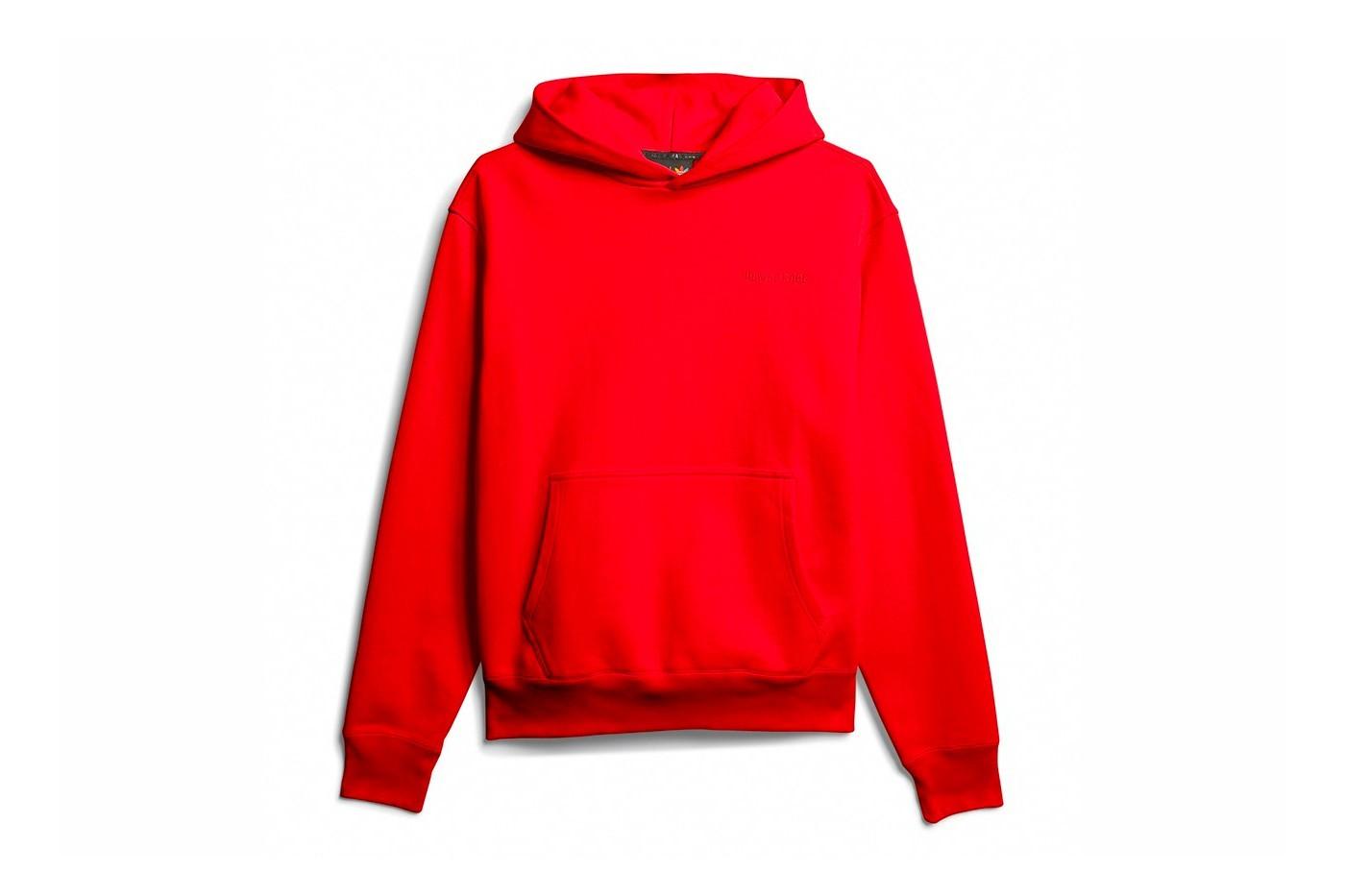 adidas x Pharrell Williams basic line hoodie red