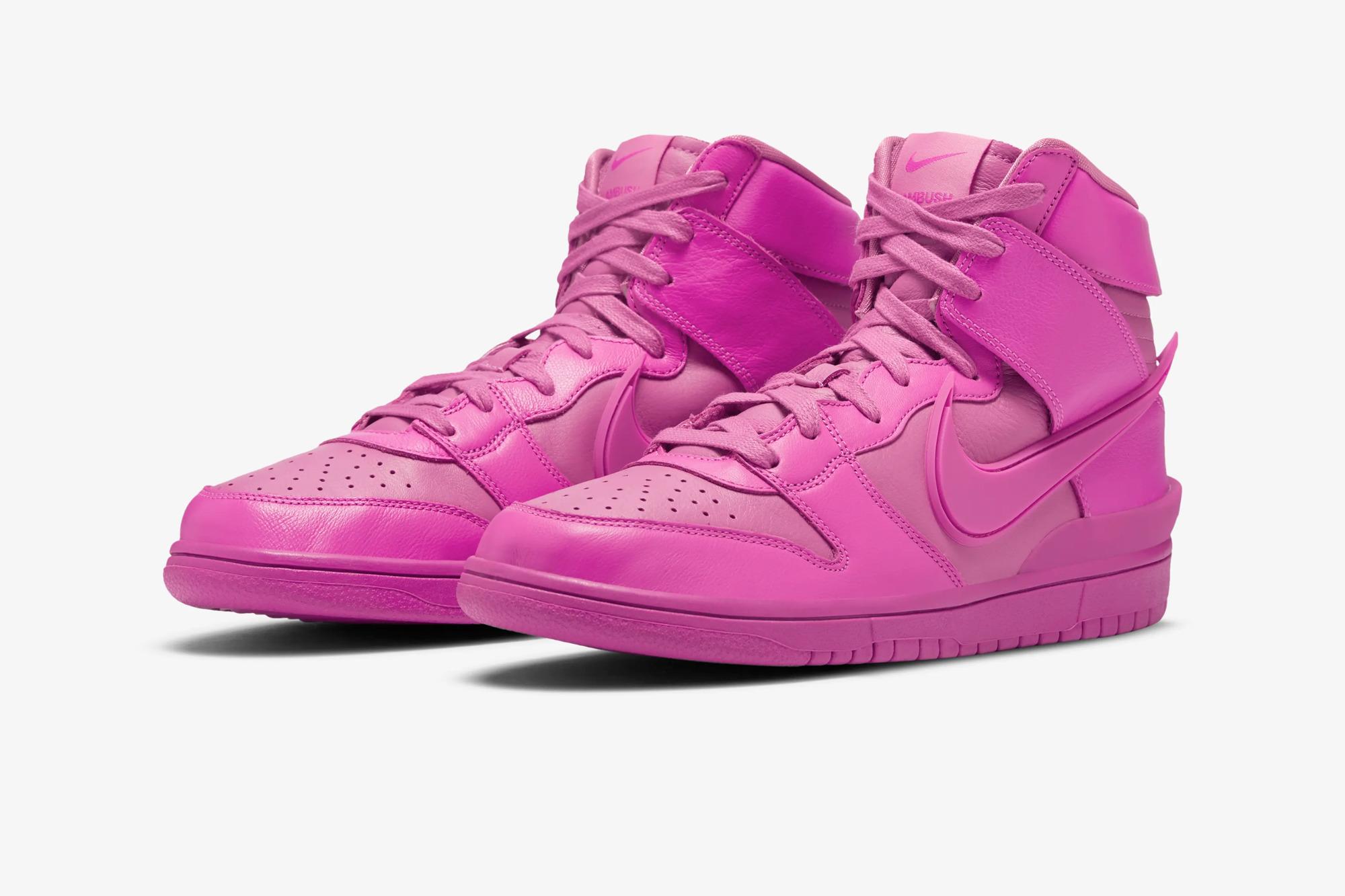 "AMBUSH x Nike SB Dunk High ""Lethal Pink"""