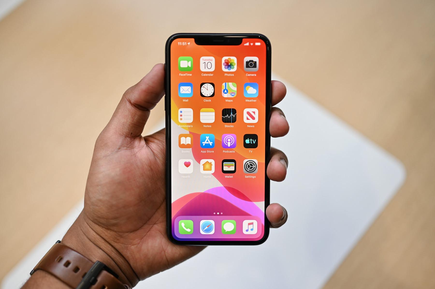 Apple iPhone schermata Home