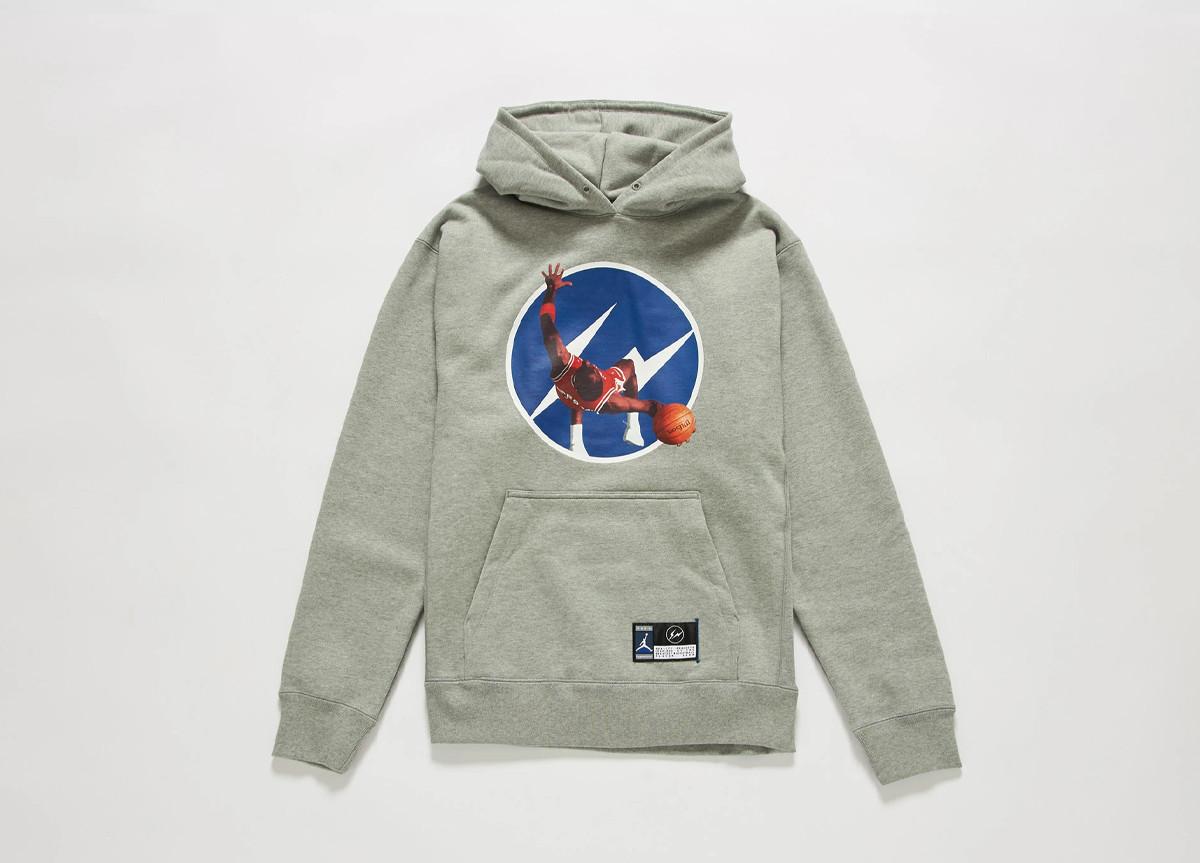 fragment design x Jordan Brand hoodie grey
