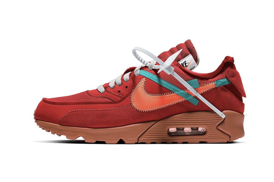 "Off-White x Nike Air Max 90 ""University Red"""