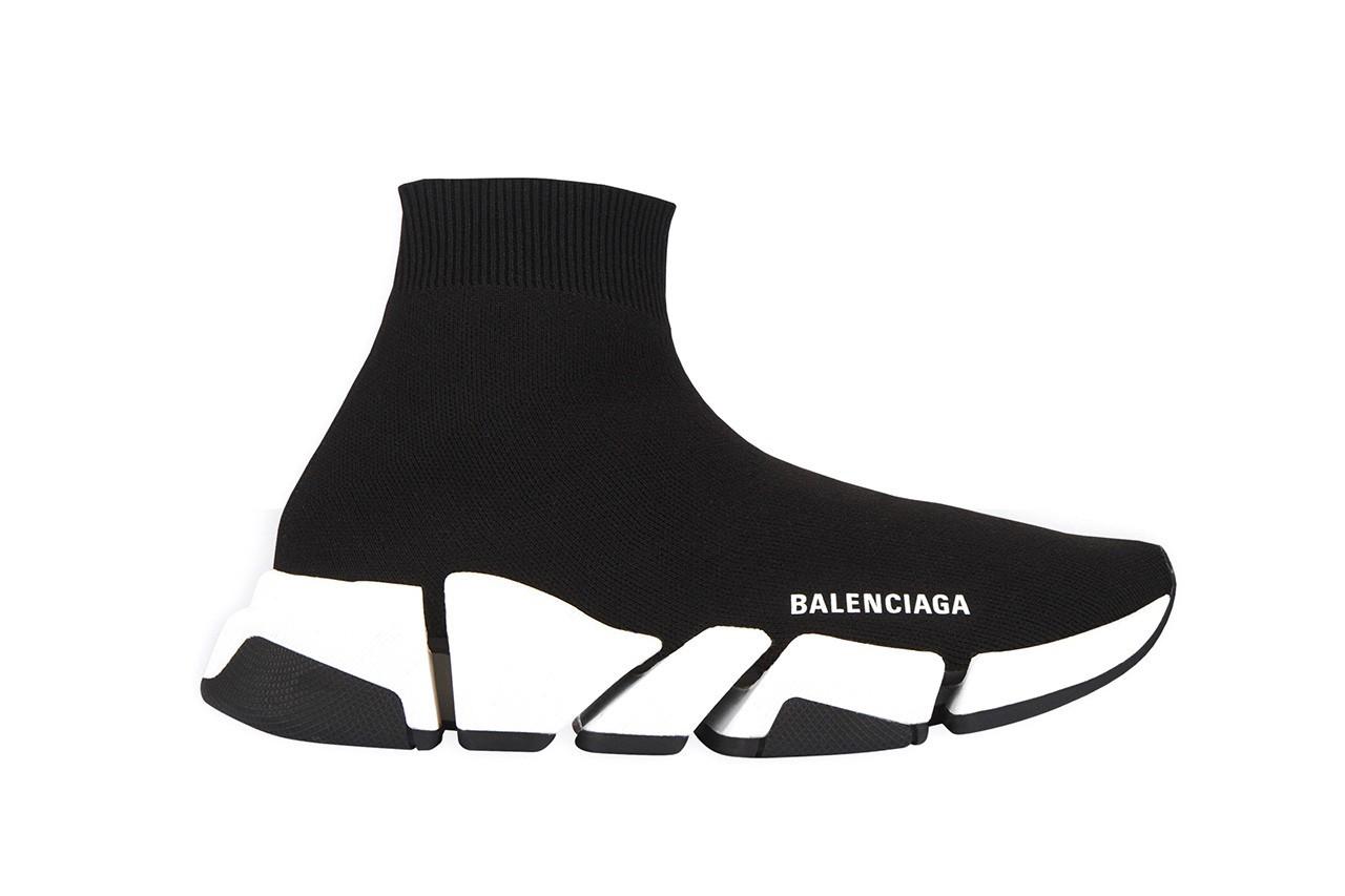 Balenciaga Speed Trainer 2.0 sneaker calzino nera e bianca