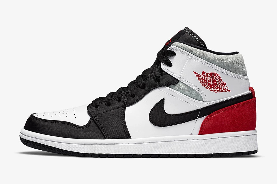 nike air jordan 1 mid se black grey red Union LA
