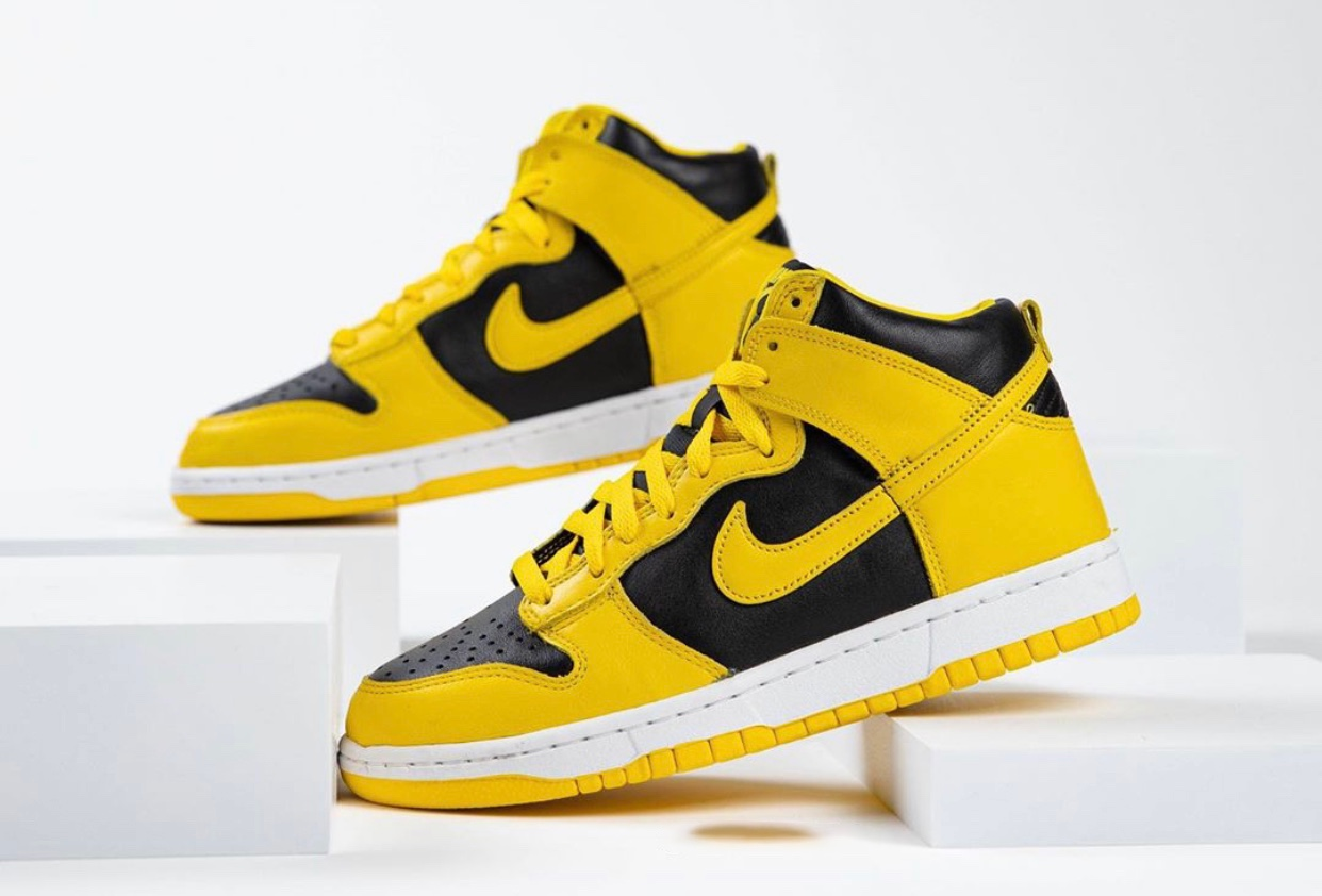 nike dunk high varsity maize