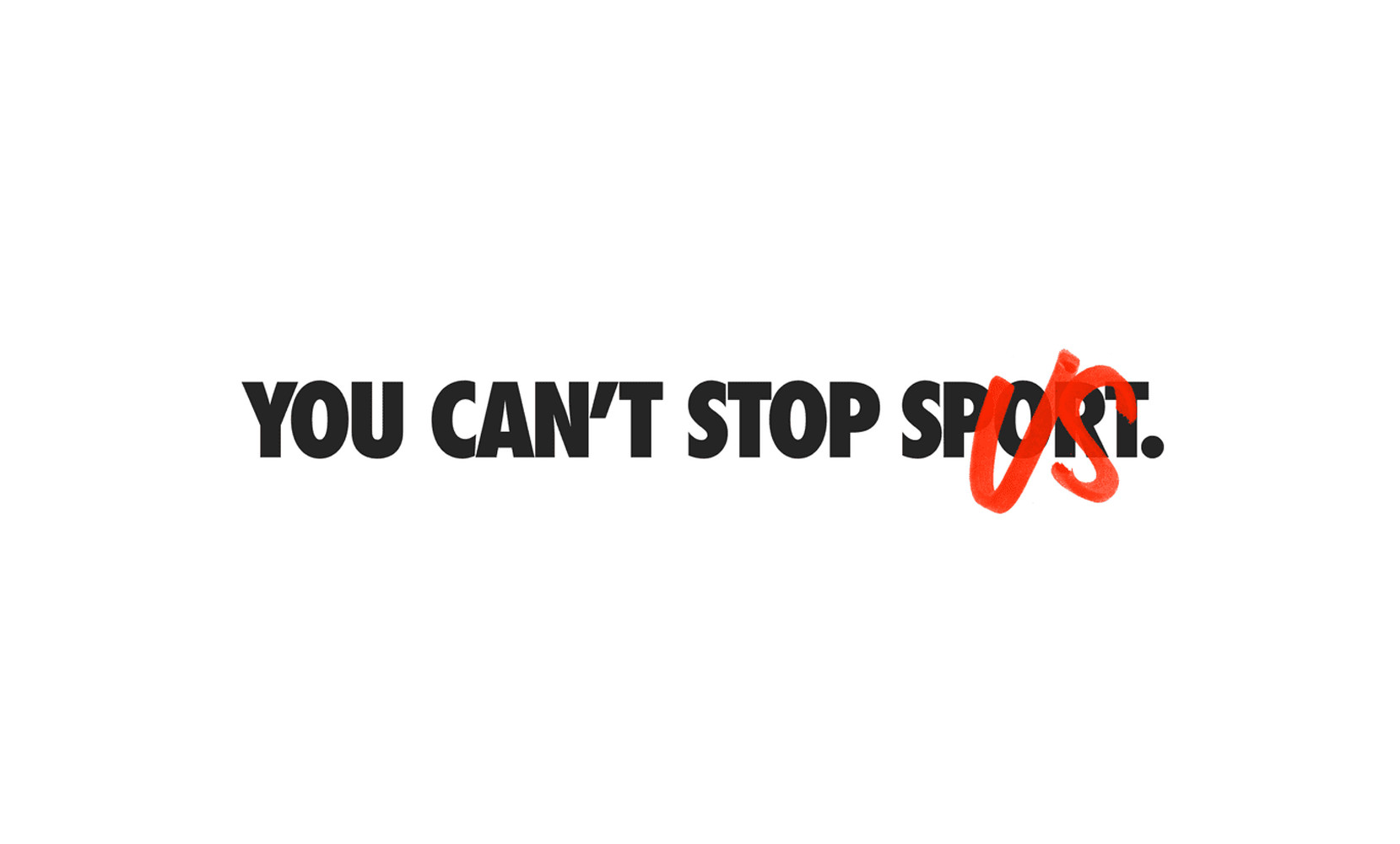 Nike spot You can't stop sport
