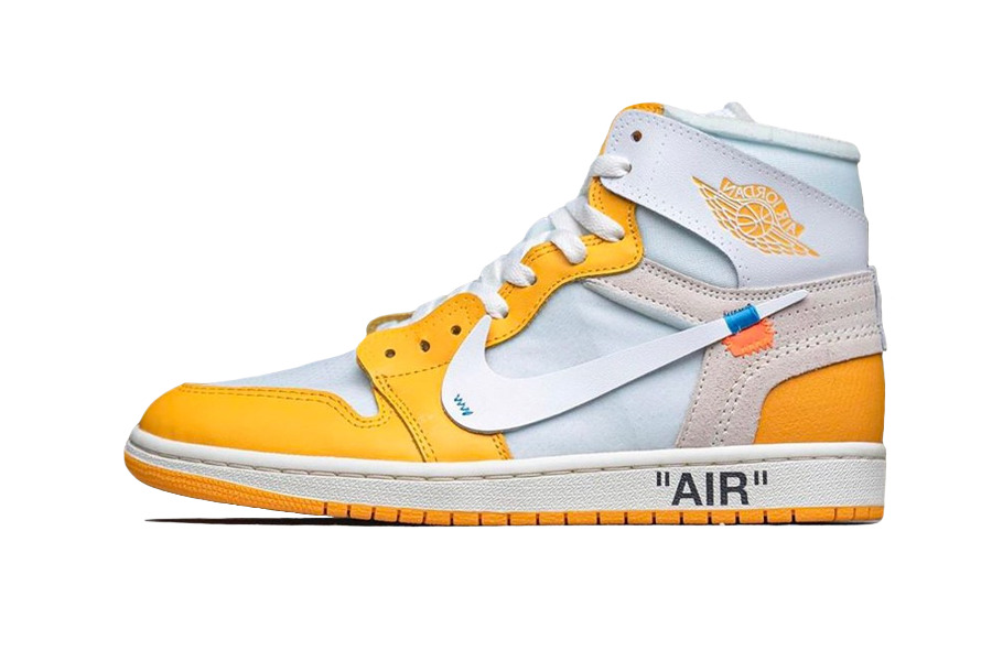 "Off-White x Air Jordan 1 High ""Canary Yellow"""