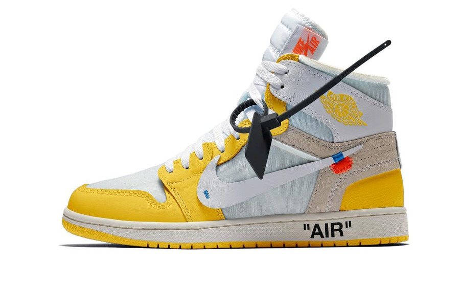 "Off-White x Air Jordan 1 High ""Canary Yellow"""