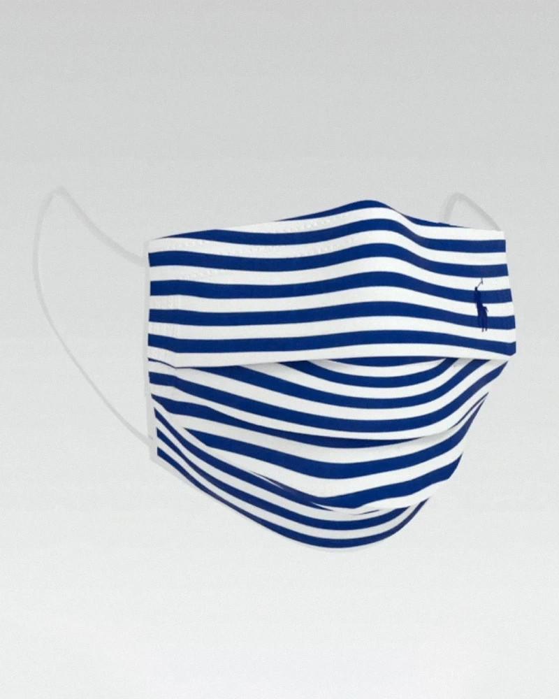Ralph Lauren Face-Mask righe bianche e blu