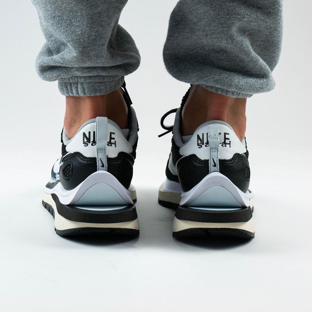 sacai x Nike Pegasus VaporFly SP Black heel