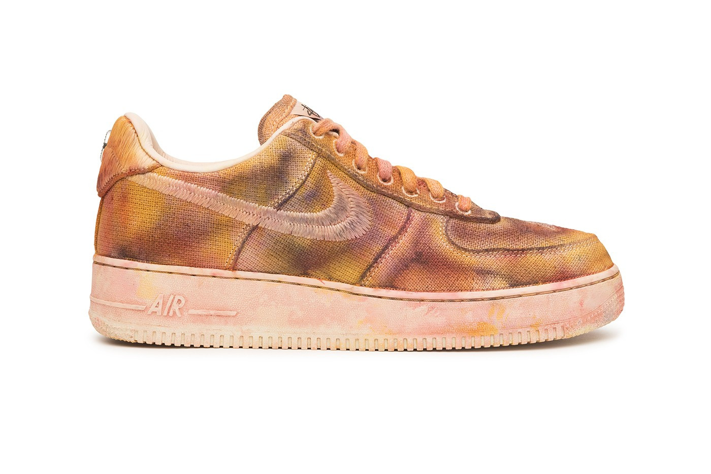stussy nike air force 1 hand dyed