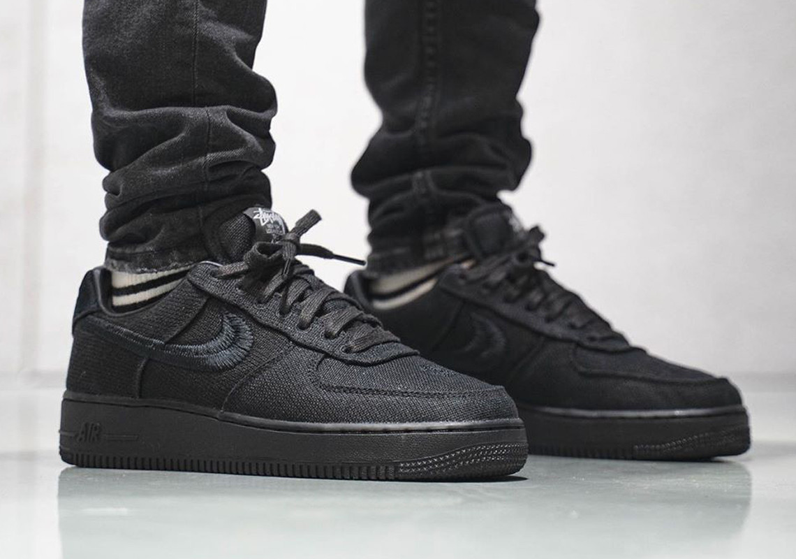 Stussy x Nike Air Force 1 Low Black