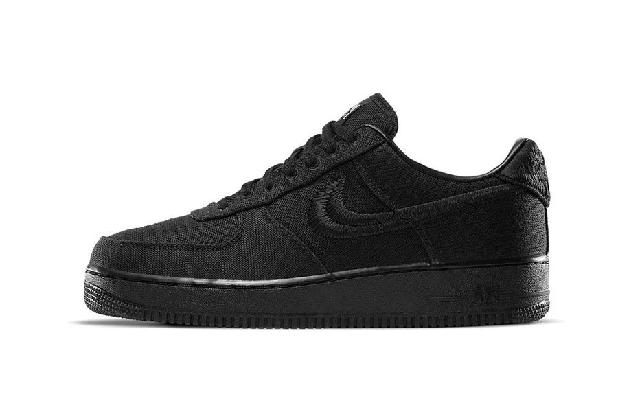 "Stussy x Nike Air Force 1 ""Black"" - SOLDOUTSERVICE"