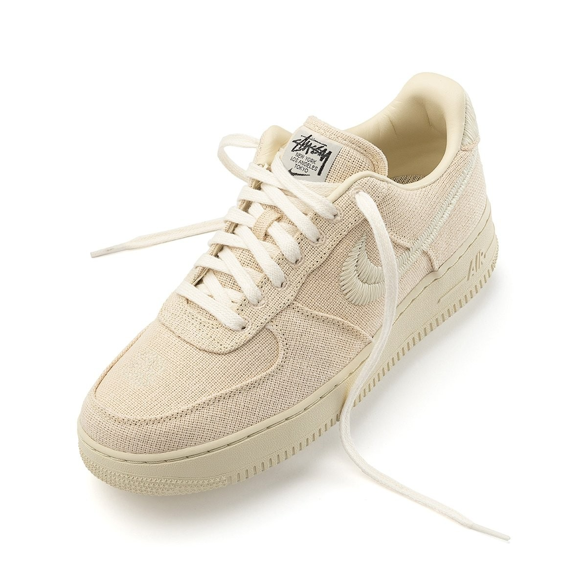 """Stussy x Nike Air Force 1 """"Fossil"""""""