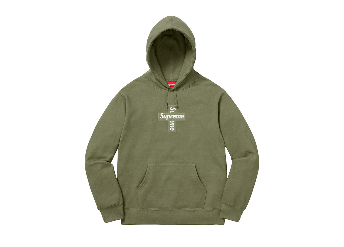 Supreme Cross Box Logo Light Olive