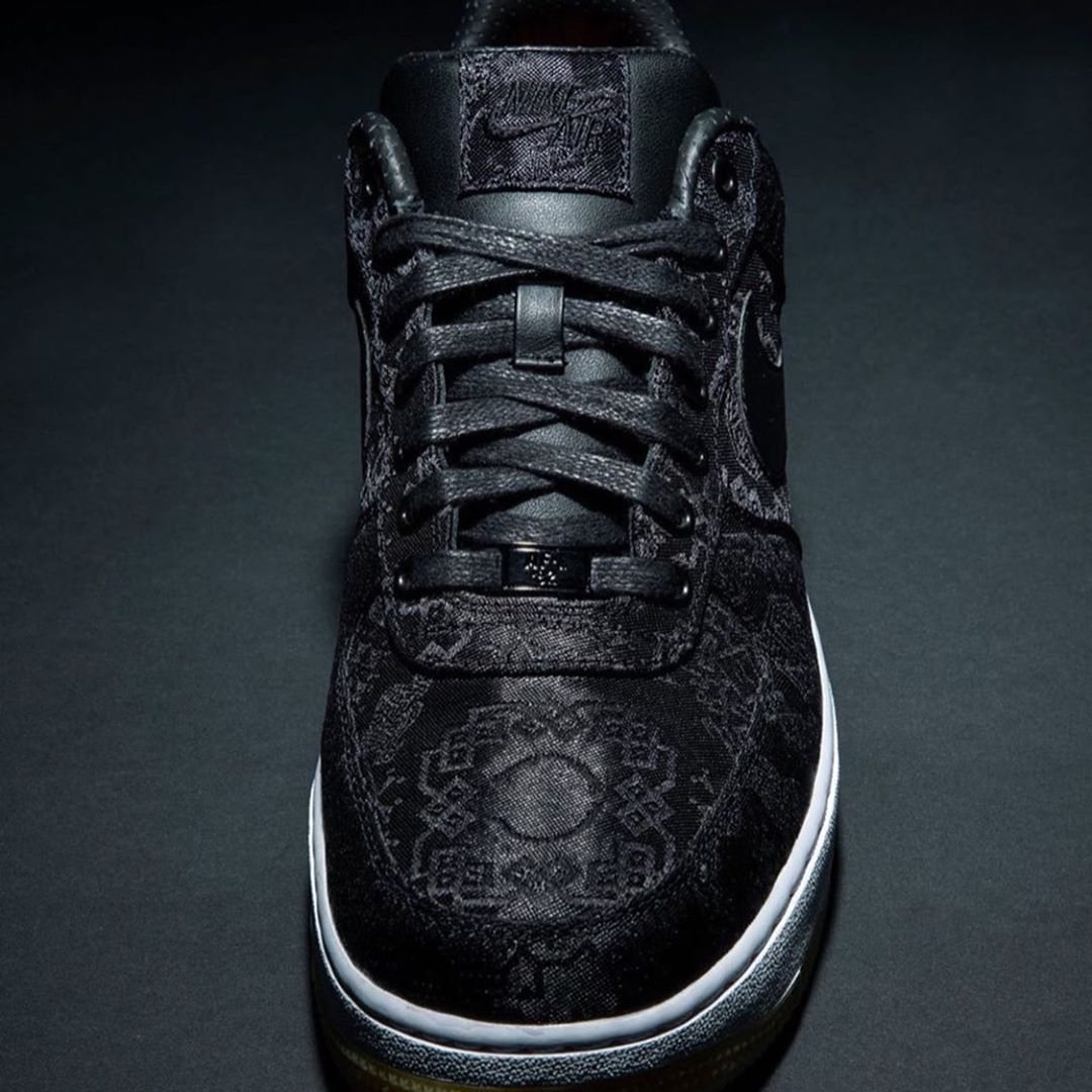 CLOT fragment Nike Air Force 1 Black Silk Release Info